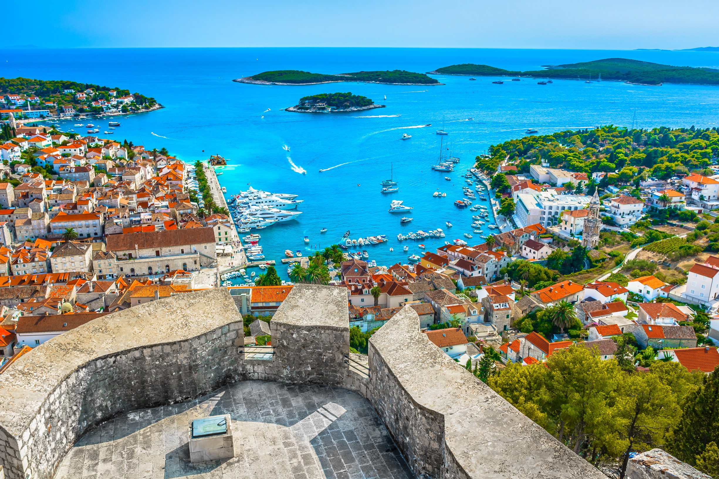 Hvar island and the Pakleni islands, Croatia