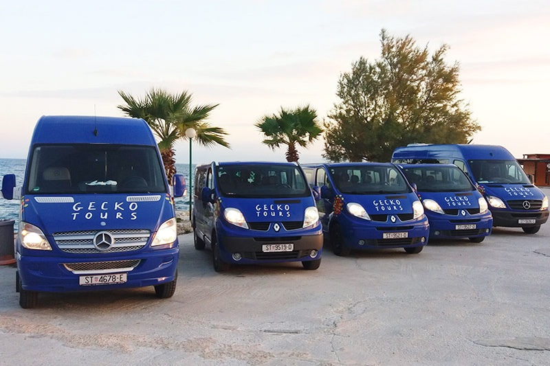 Split airport transfers - Gecko tours vehicles